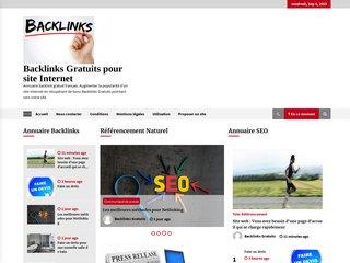 Annuaire backlinks gratuits