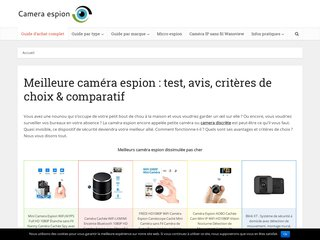 Guide achat camera espion