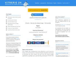 Réparation urgente de vitres, 24 heures sur 24 (Suisse)