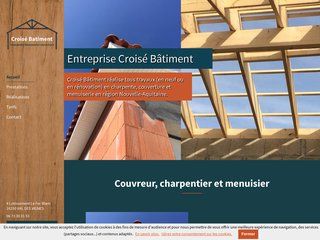 Croisé Batiment, charpente, couverture et menuiserie en Charente
