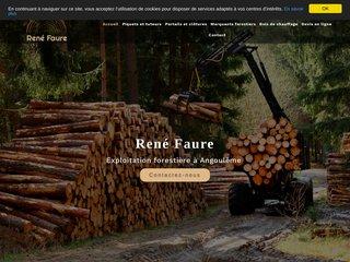 René Faure, Exploitation forestière à Angoulême