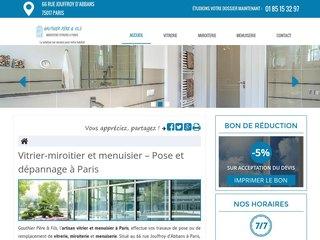 Pose de vitre baie vitrée coulissante à Paris