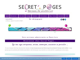 SecretPages secretariat independant assistance administrative