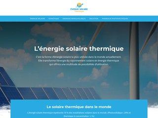 Tout savoir sur l'énergie solaire thermique