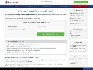 Demande en ligne d'autorisation ESTA pour les USA
