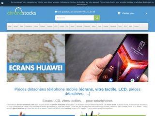 Chronostocks, écrans tactiles et pièces pour téléphones