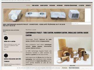 Cartonnages Paulet : tube carton, mandrin carton, emballage carton, bague carton