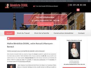 Avocat droit immobilier Marcq-en-Barœul, Maître Duval