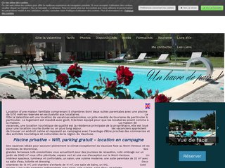Location maison de vacances familiale 5 chambres avec piscine privée