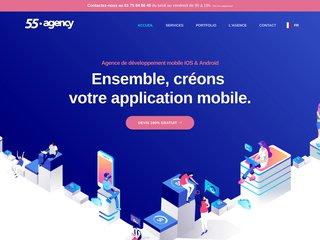 55 • agency | Agence de développement d'applications mobiles iOS Android à Paris, Nice & Lyon