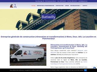 BatiWilly: entreprise de rénovation et transformation à Mons, Dour, Ath