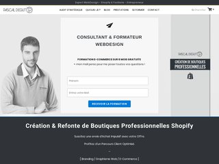 Prestation WebDesign sur Shopify