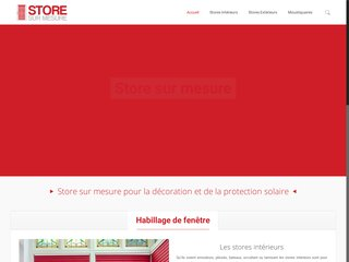 Store sur mesure pour décoration intérieure et extérieure