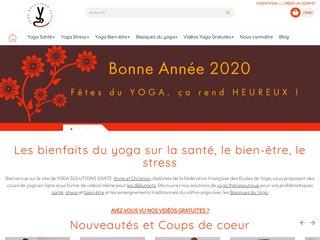 Yoga solutions santé : Cours de yoga en ligne