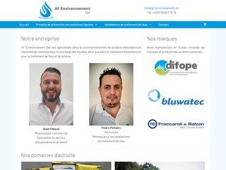 AF Environnement, matériels contre les pollutions de l'eau