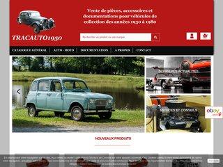 Vente pièces pour voitures anciennes - Tracauto1950