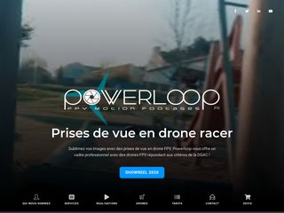 Powerloop - Drone FPV, Prises de vue en immersion