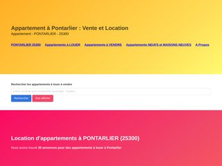 Trouvez votre appartement à Pontarlier