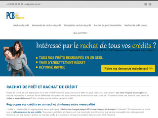 Regroupement de credit PCB Finances