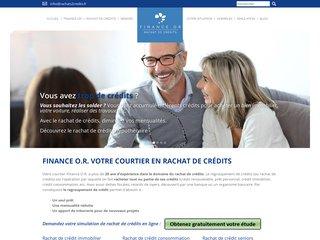 Finance O.R., votre courtier en rachat de crédit