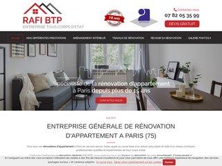 RAFI BTP, rénovation d'appartement sur Paris