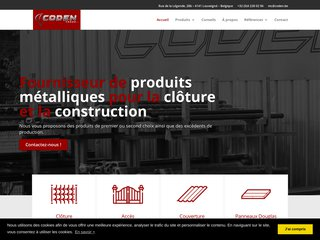 Coden Trade vous fournit en matériaux métalliques et produits pour la clôture et la construction