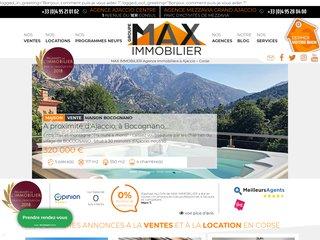 Max Immobilier, votre agence immobilière à Ajaccio et en Corse