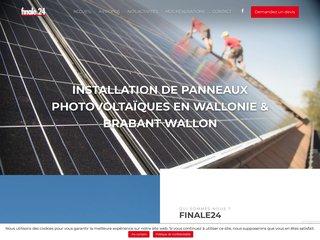 Finale 24 : panneaux photovoltaïques à Liège, en Wallonie et à Bruxelles