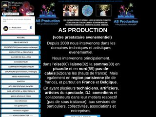 AS PRODUCTION realisation de feux d'artifices mariage et evenementiel
