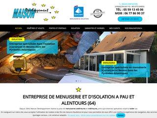 Menuiserie-Isolation : Maison Développement à Beuste et Jurançon (64)