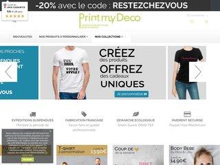 Printmydeco : Vêtements personnalisables en ligne