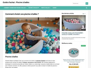Bubble pool - Comparatif de piscines à balles