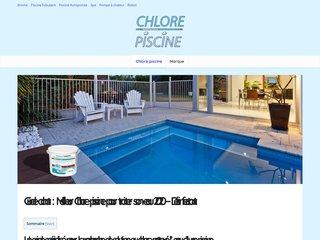 Traitement au chlore pour l'eau de natation - Conseil d'achat