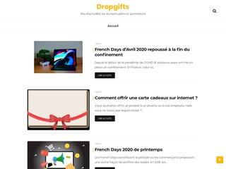 Dropgifts, plateforme d'actualité sur les promotions e les bons plans