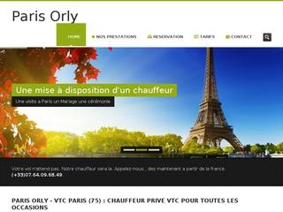 Votre chauffeur VTC Paris Orly