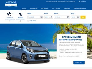Agence location voiture Martinique - Popscar