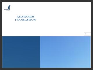 Traduction du chinois et du japonais