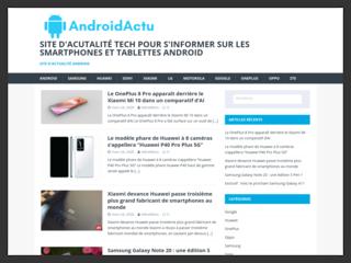 Androidactu, l'actualité informatique spéciale Android