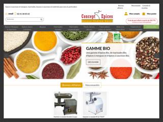 Concept Epices - boyaux et épices pour saucisses