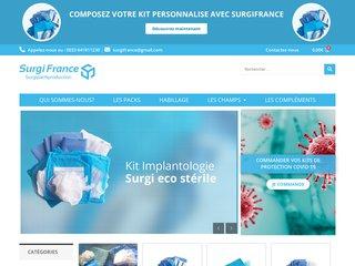 Blouse stérile ; composition et contamination en France
