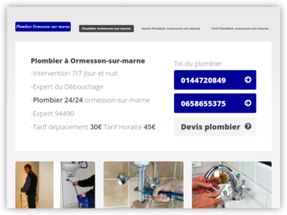 Plombier Ormesson-sur-marne
