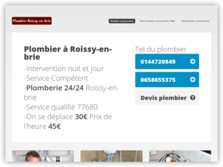 Plombier Roissy-en-Brie