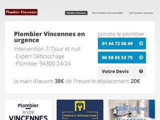 Plombier Vincennes
