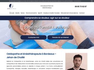 Ostéopathe à Bordeaux, Jehan de Chaillé