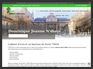 Cabinet d'avocat de maître Dominique-Jeanne N'Diaye à Paris (10)