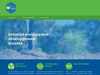 Actu Ecologie