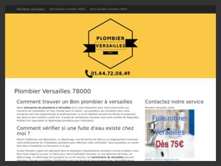 Plombier Versailles