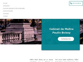 avocat à Paris 16, Maitre Paulin Boissy