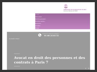 Avocat en droit des personnes et des contrats à Paris 7