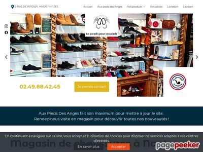 Magasin de chaussures à Nantes